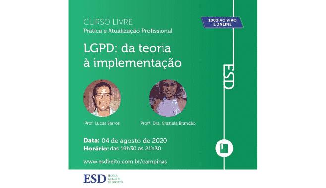 Curso de extensão online LGPD