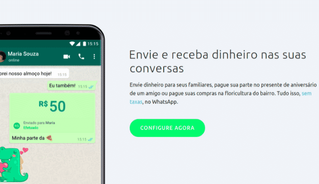 Whatsapp começa a permitir pagamentos no Brasil
