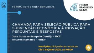 Selecao Publica Subvencao Economica Forum IoT