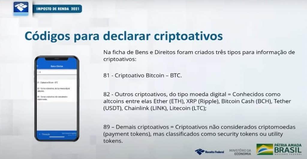 declarar criptomoedas no IRPF 2021